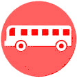 bus flat icon with blue background