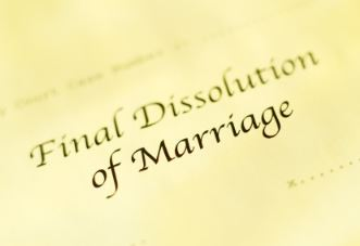 Final dissolution of marriage document