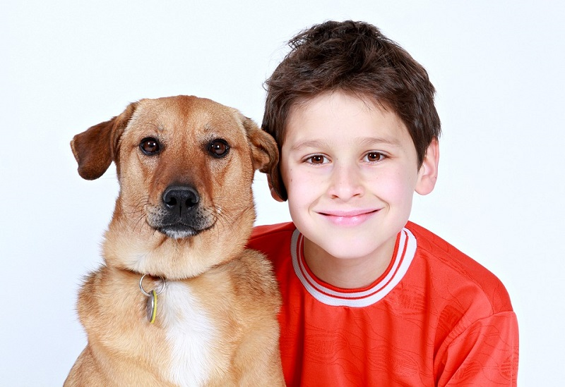 photo of boy with dog
